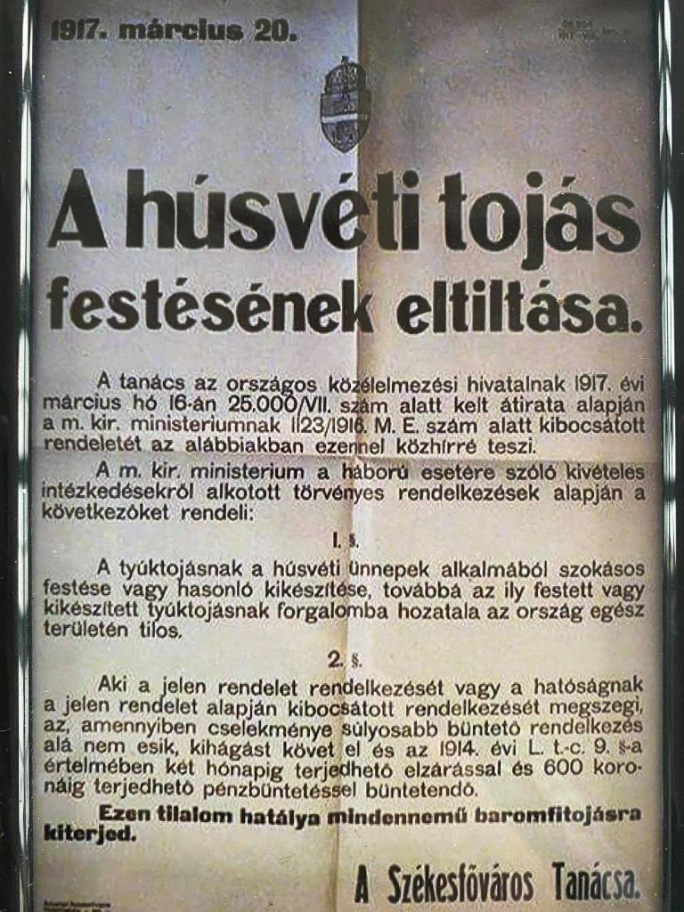 «Незаконная роспись яиц на Пасху может привести к тюремному заключению!» Странный указ Венгерского правительства, датированный 1917 годом