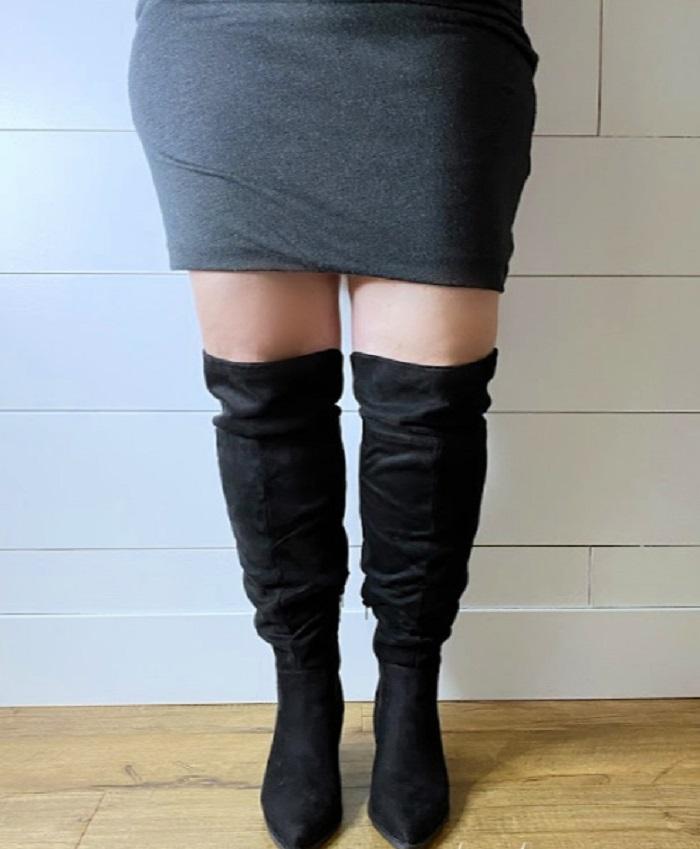 Какие сапоги лучше всего смотрятся на полных ногах: подборка самых стильных моделей (фото)