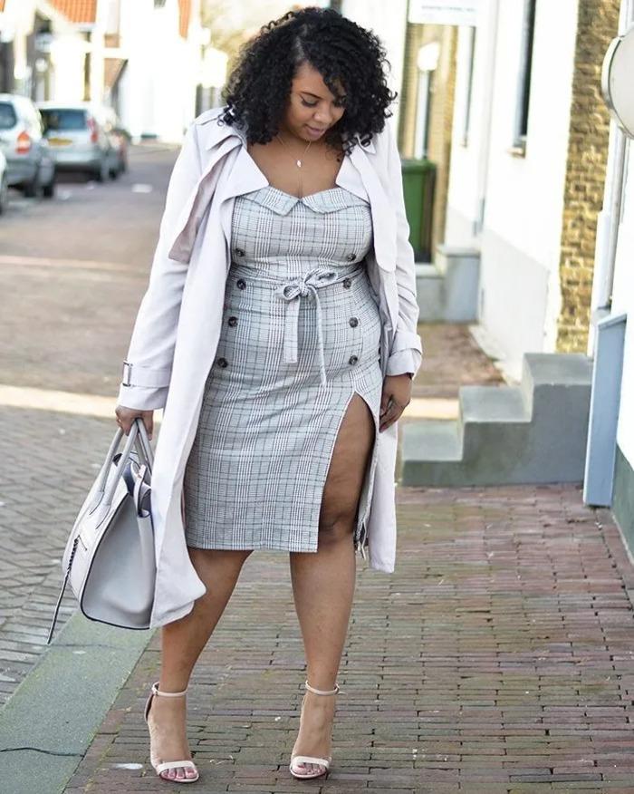 Чтоб смотреться безупречно: как носить платья до и ниже колена полным женщинам