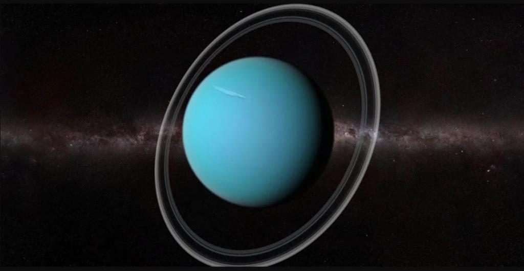 Рентгеновские лучи Урана делают ледяную планету похожей на обложку альбома 80-х