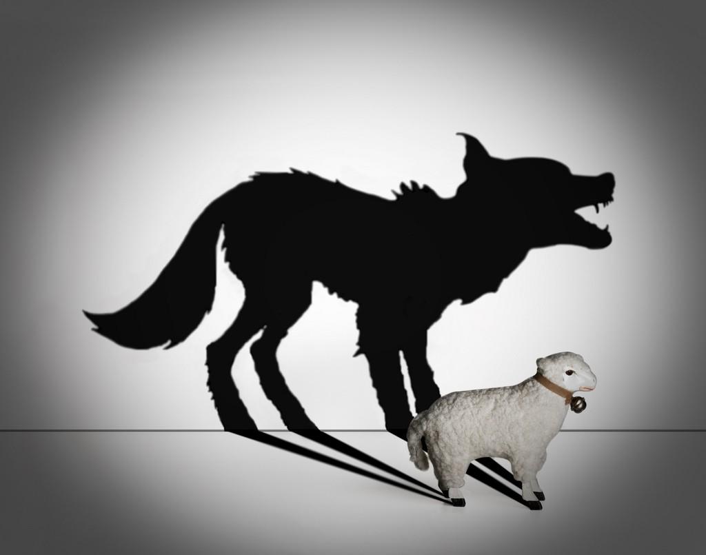 Открытка волк в овечьей шкуре
