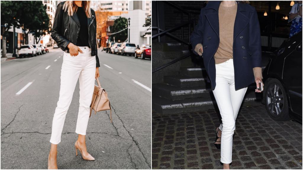 """""""Морской"""" шик, вечерний стиль, спортивный вид: с чем комбинировать белые джинсы по советам стилистов"""