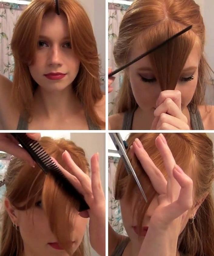 Зачем тратить деньги на 2-минутное посещение парикмахерской, если челку можно подстричь и дома разными способами