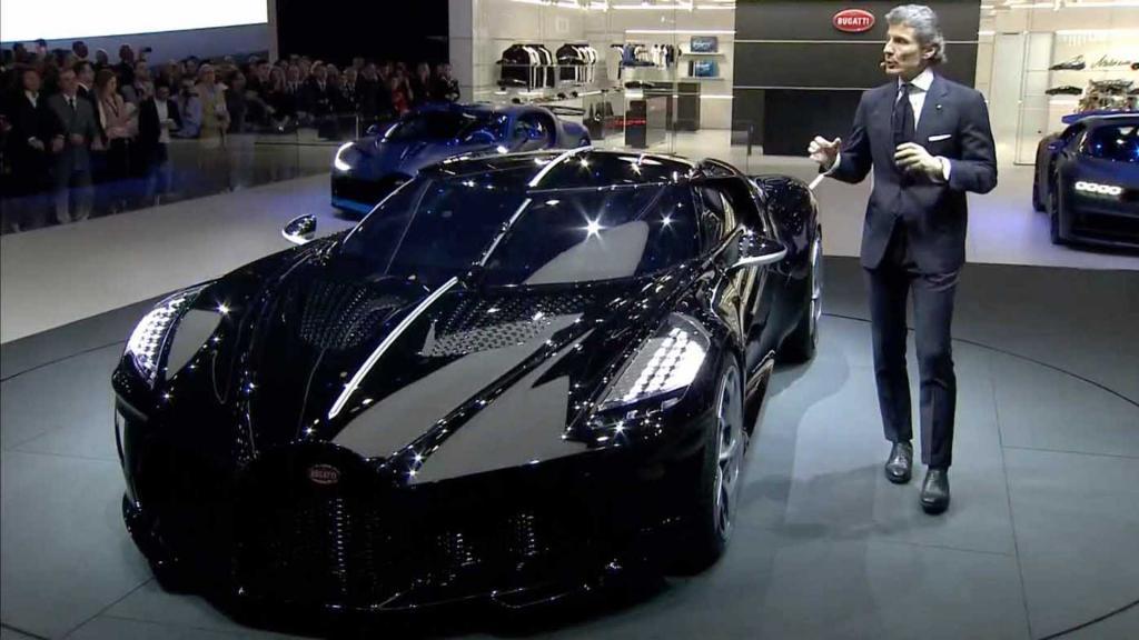 Во Франции представили гиперкар Bugatti La Voiture Noire - самый дорогой автомобиль в мире