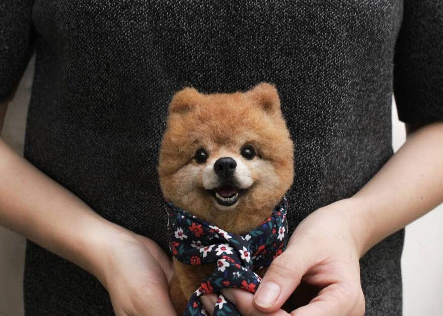 Художница из Японии создает реалистичные фигурки животных из шерсти. Порой их сложно отличить от реальных питомцев