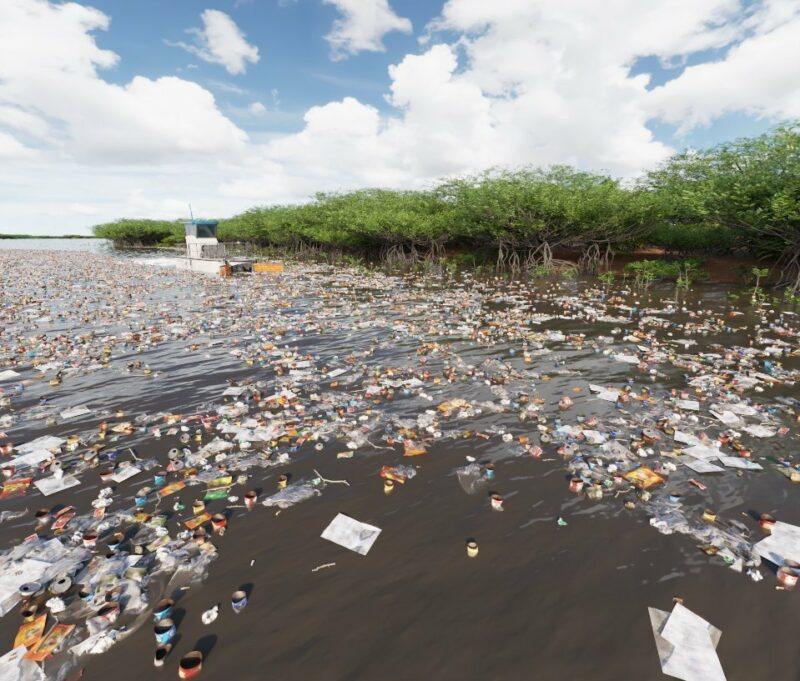 """""""Кушает"""" до трех тонн в час: гигинтский катамаран очищает океан от пластиковых отходов"""