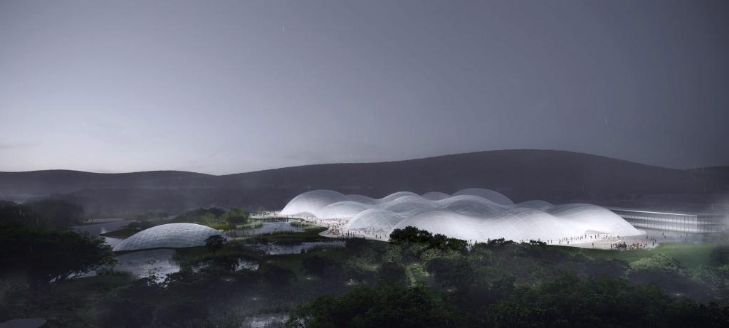 Морской музей, похожий на облака, хотят построить в Китае. Фото проекта впечатляет