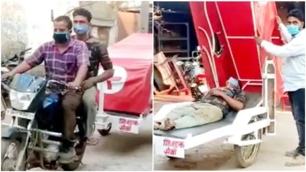 На фоне бушующей пандемии индийский инженер создал прицеп «скорой помощи». Теперь он бесплатно спасает людей, заболевших COVID-19