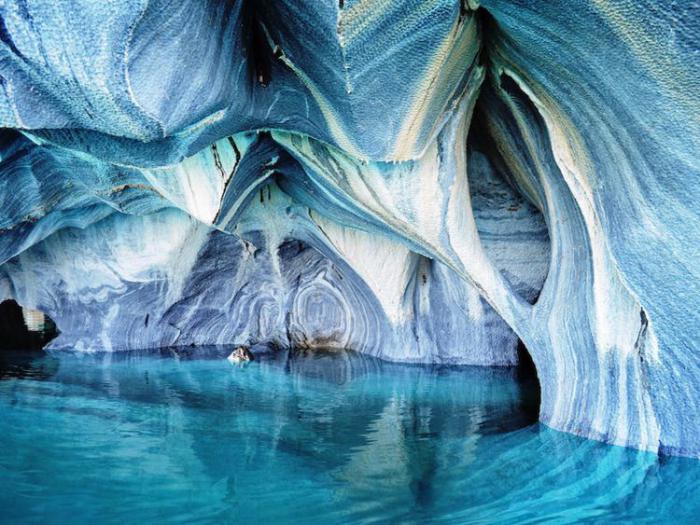 великолепные пещеры в чили