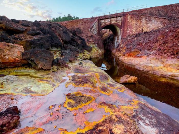 отравленная железом река