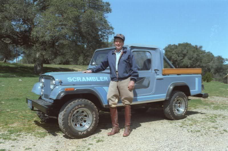 Машины Рональда Рейгана: у него был Willys CJ-6 и еще несколько автомобилей