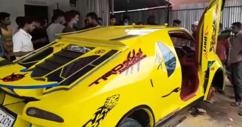 Индия: 30-летний автомеханик из старого Suzuki Swift сделал Lamborghini, посмотрев видео на YouTube