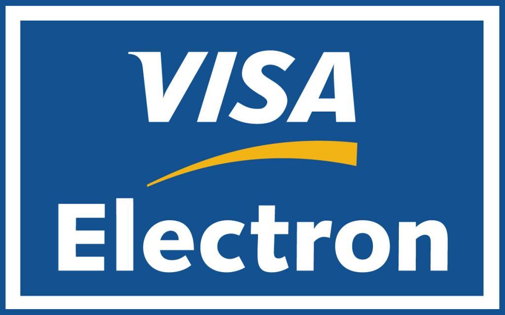 Измененный инновационный логотип от компании VISA. Голубая, белая и желтая полосы символизируют главные ценности компании