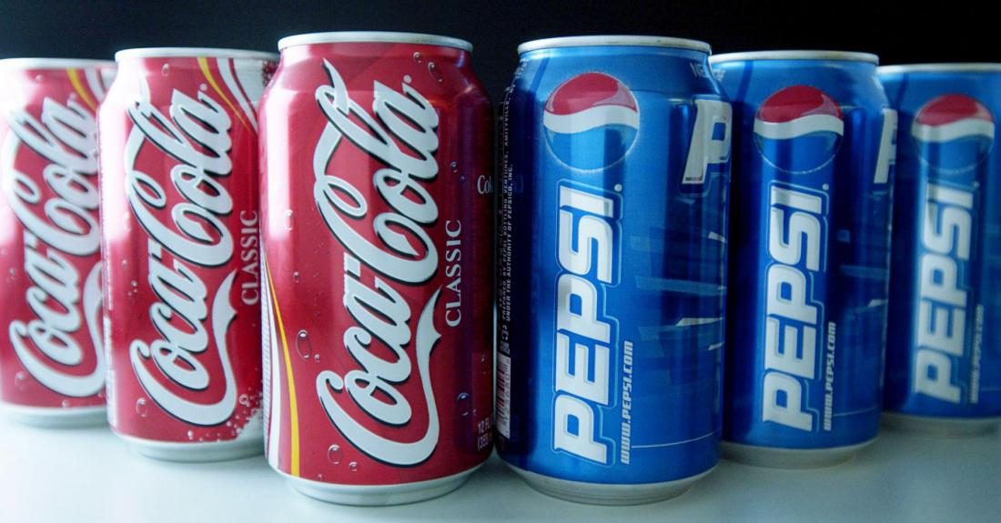 a comparison of coca cola and pepsi cola two brands of soft drinks