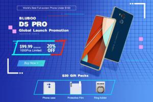 Новинка за 99,99 $: продажи BLUBOO D5 PRO стартовали