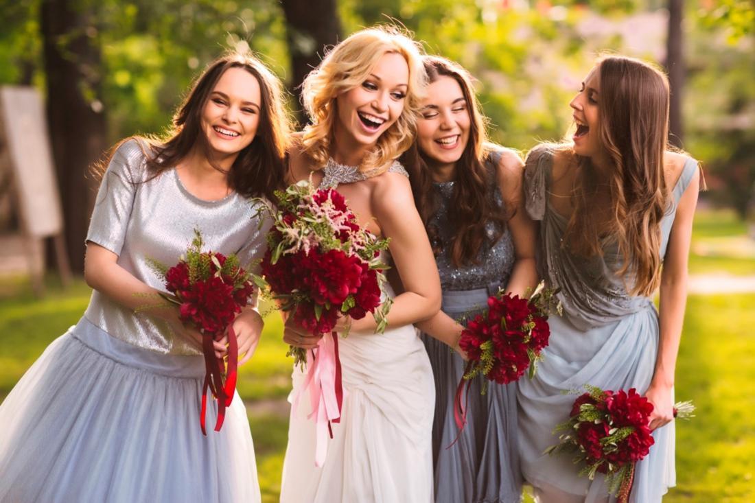 Букет невесты и подружками 2017
