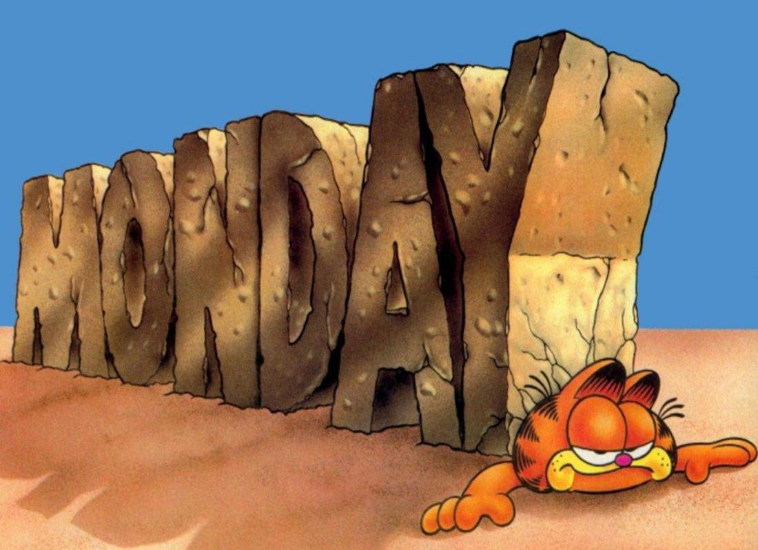 Ржачные картинки понедельник день тяжелый