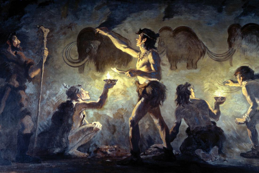 Чем рисовал пещерный человек