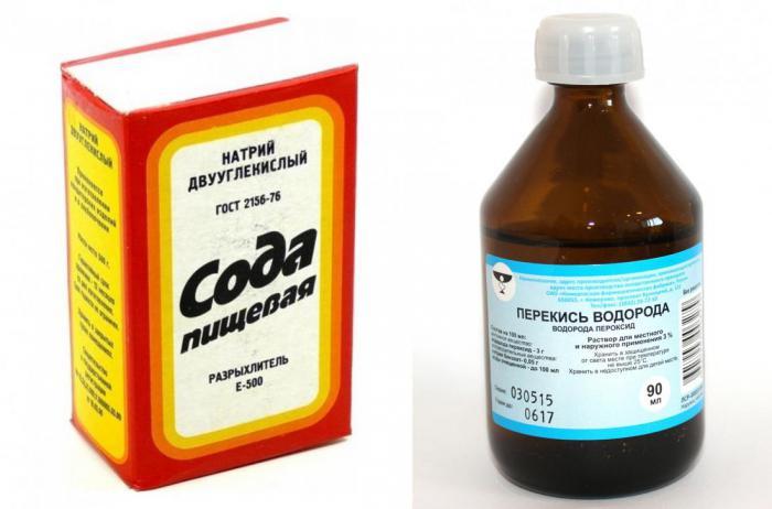 Как вывести пятно содой и перекисью водорода одновременно фото