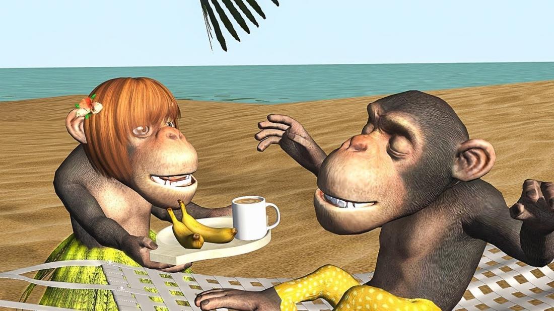 Екатерины, прикольные картинки с обезьянами с добрым утром с надписью