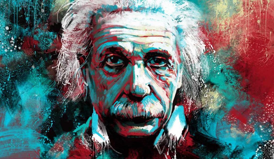 эйнштейн альберт постер илеальном состоянии одето