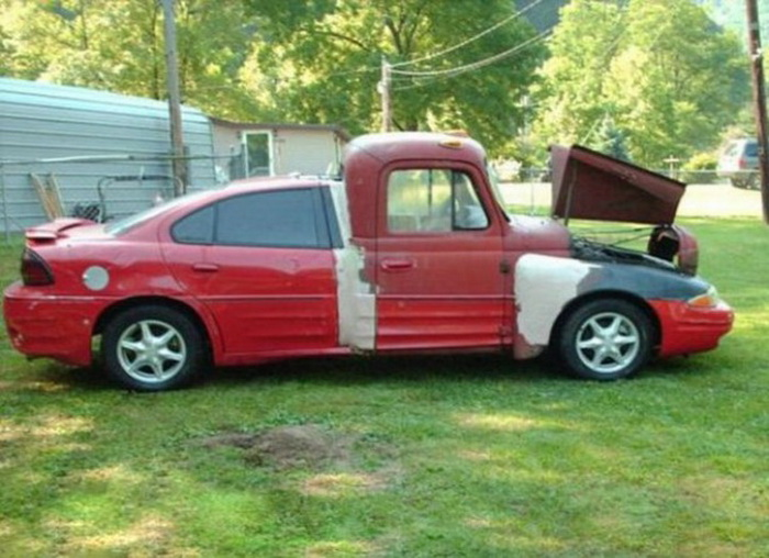 10 безумных переделанных автомобилей