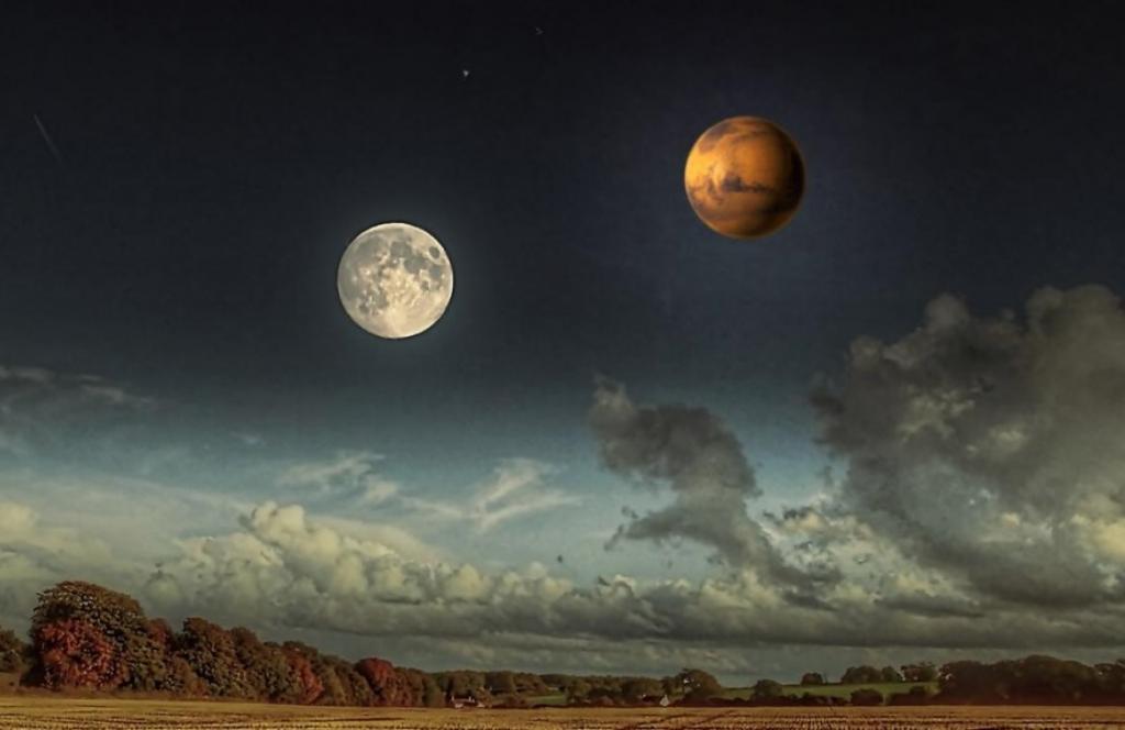 планета марс луна фото название