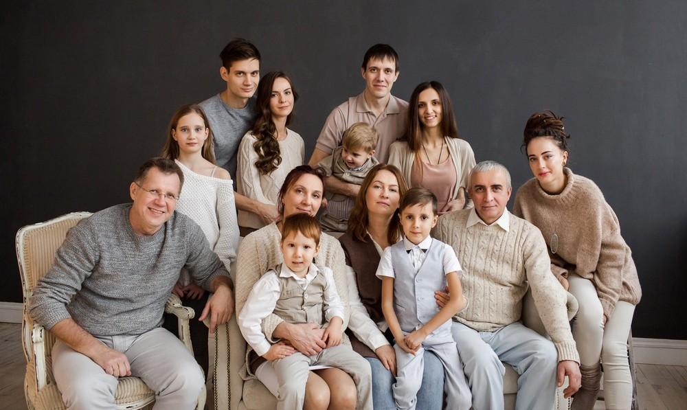 картинки семьи большая семья