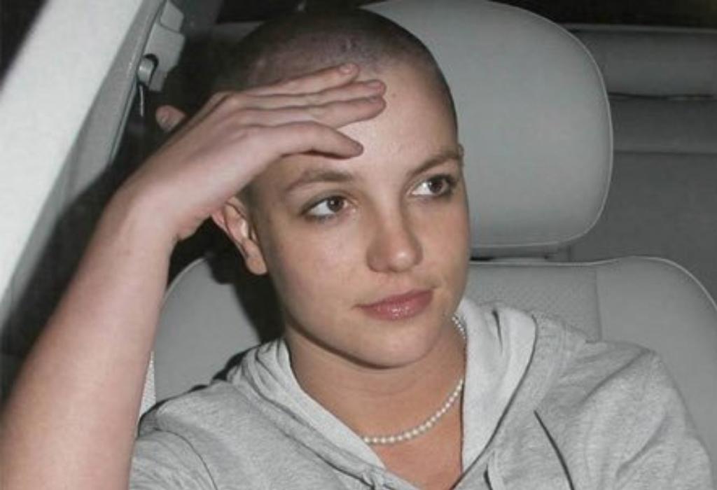 Brittney head shaved