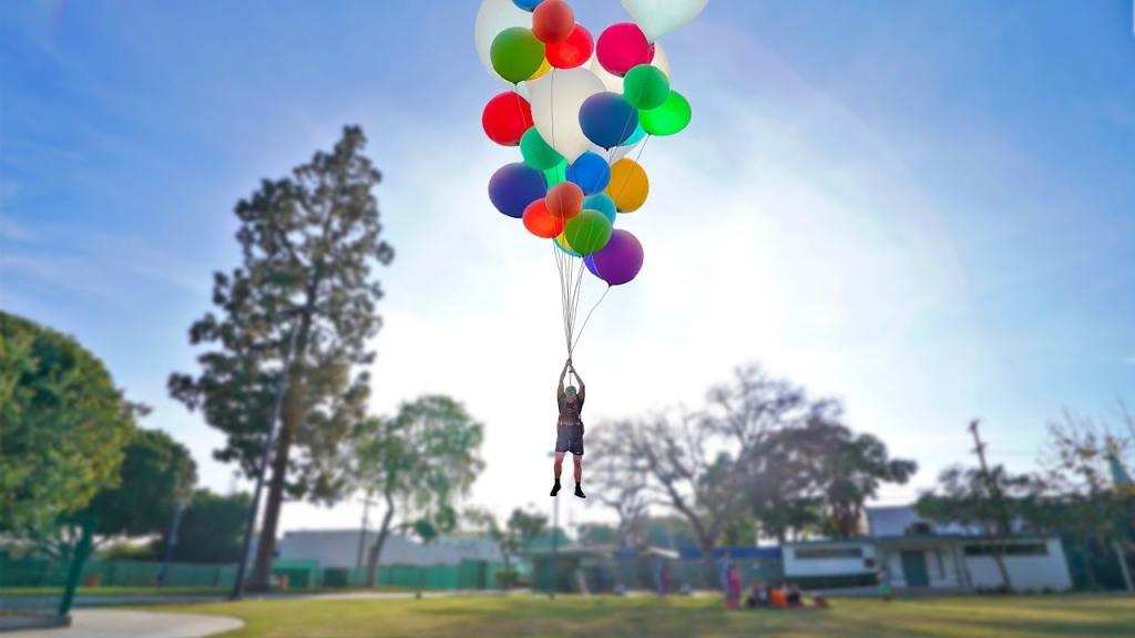 Сколько человеку потребуется воздушных шариков, чтобы взлететь