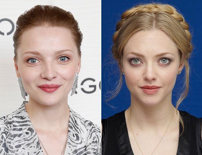 сравнение с актрисой по фото увидела, что такой
