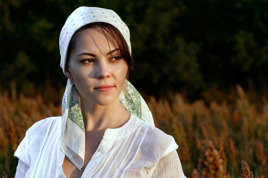 Картинка девушка крестьянка