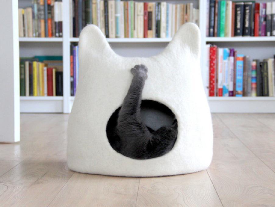 Домик из фетра своими руками для кошек 76