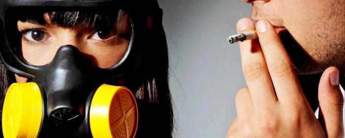 Вдыхание вторичного дыма