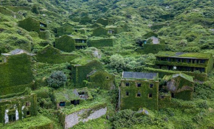 Призрачная деревня в Китае, покрытая растениями (фото)