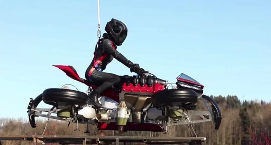 Компания Lazareth представила новую модель летающего мотоцикла