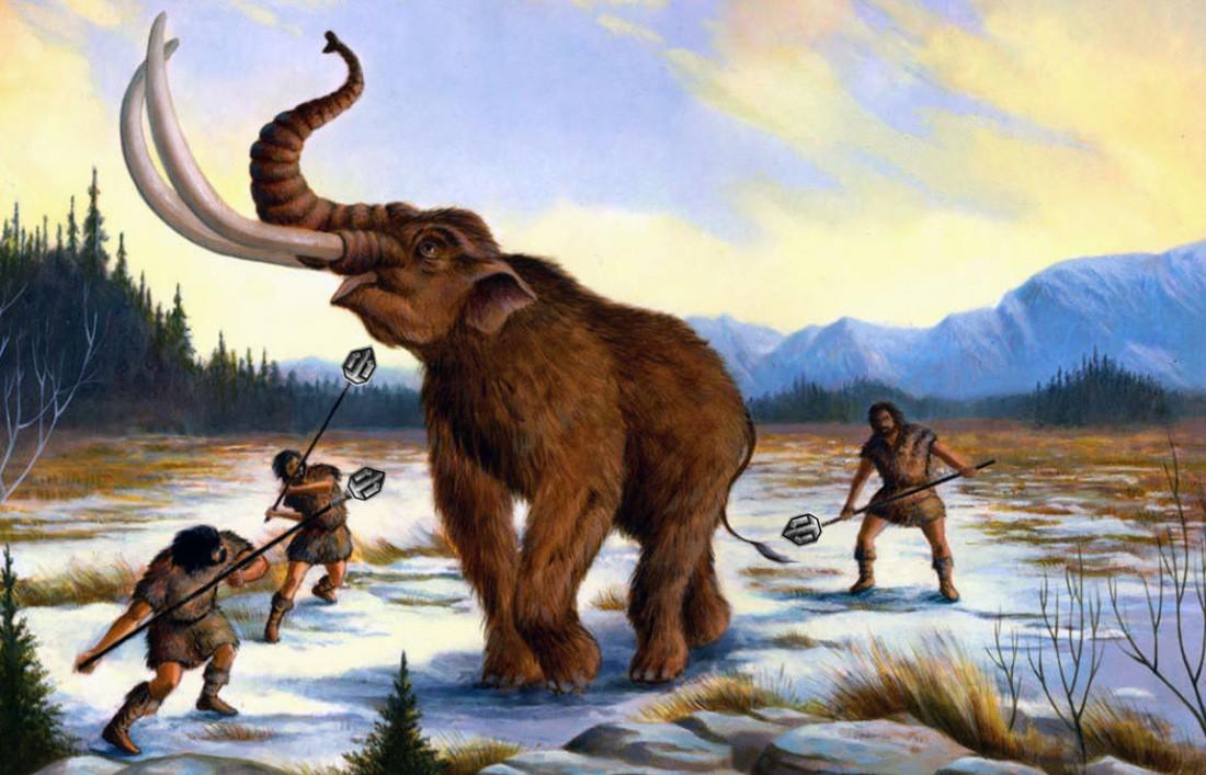 поможем картинка мамонта и древнего человека эту документацию