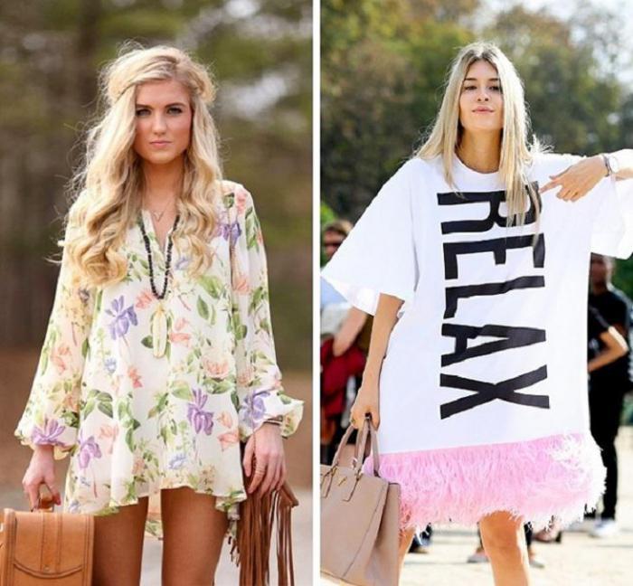 рубашка-платье и футболка-платье