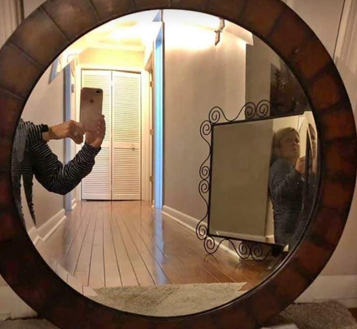 смешные фото с отражения зеркал злостные даже