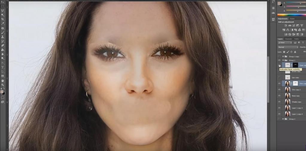 Мастер фотошопа создал образ идеальной женщины (видео)