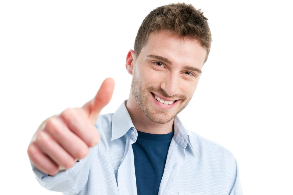 мужские фото с пальцем вверх общем
