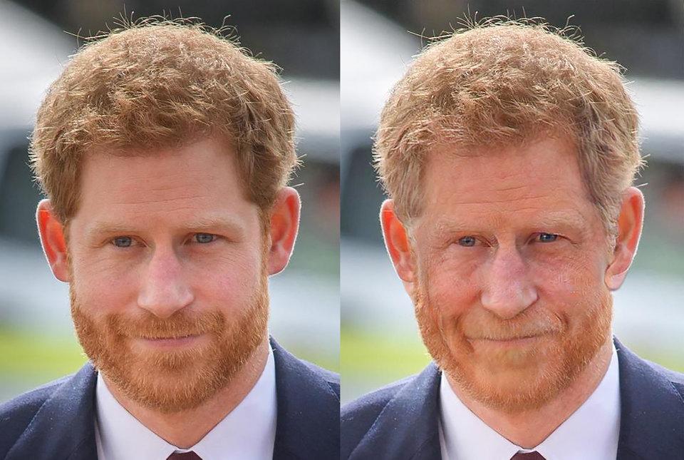 Гарри, Меган, Кейт и другие: как британские знаменитости будут выглядеть через 35 лет