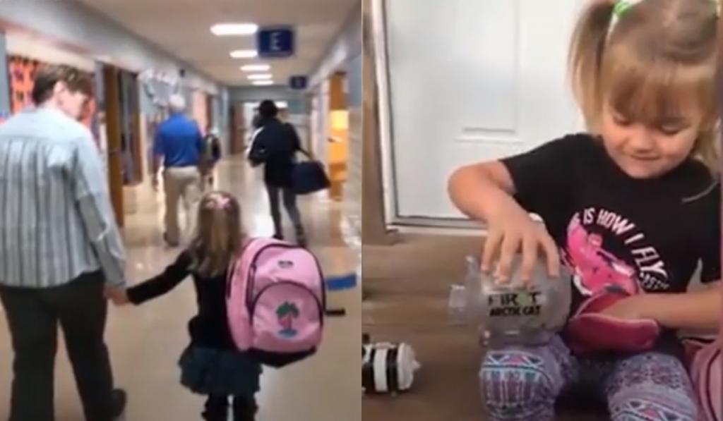 Родители ребенка не могли оплачивать его обед в школе. Тогда маленькая девочка решила помочь другу