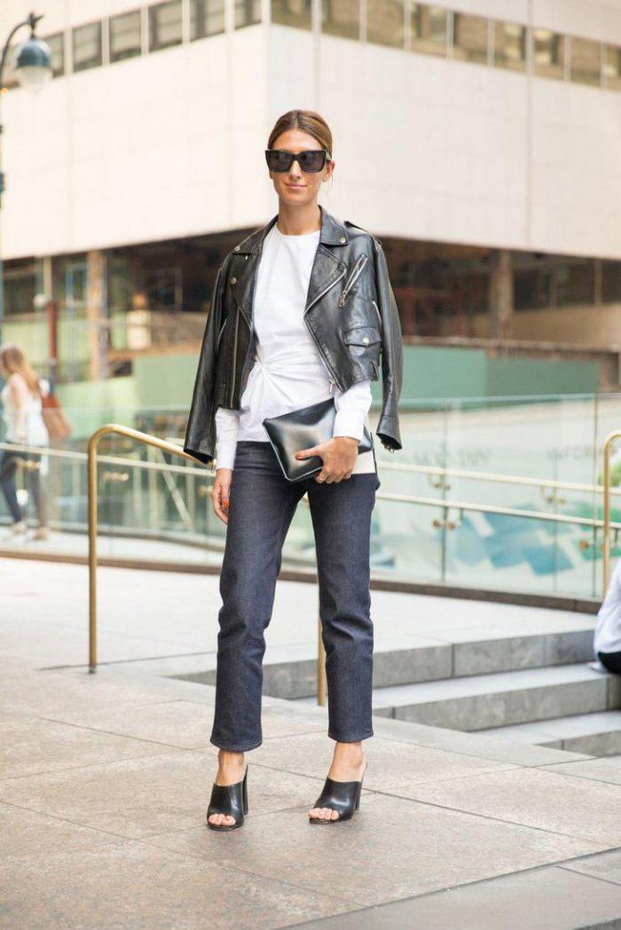 джинсы с блузкой