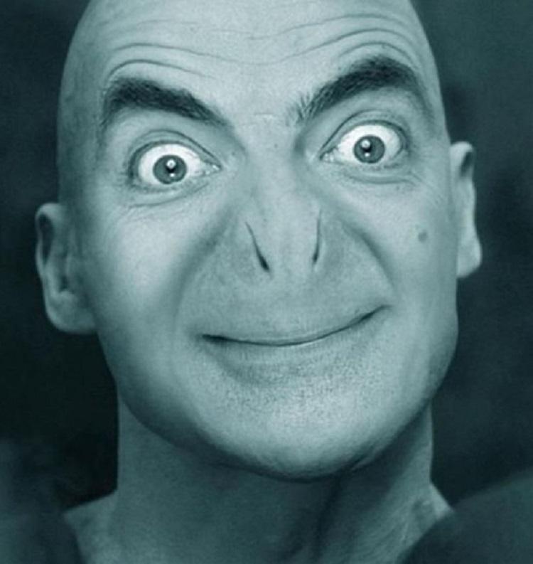 Вездесущий Мистер Бин: отфотошопленные известные картинки, в которые добавлено забавное лицо