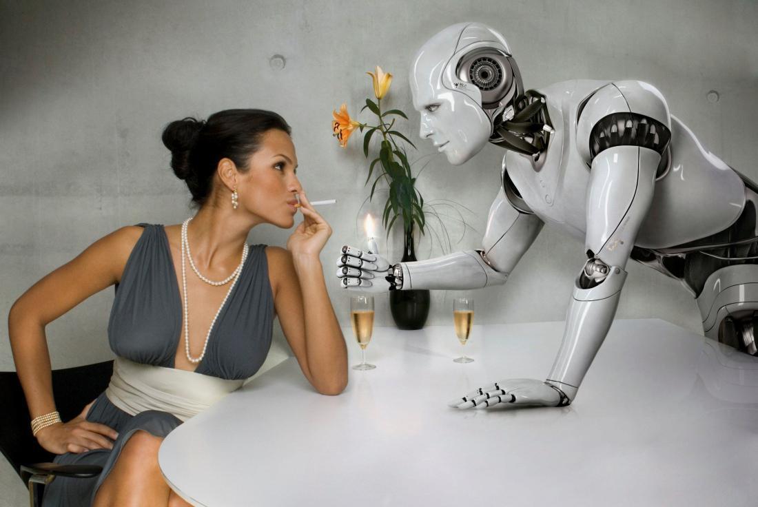 Секс человека с роботом