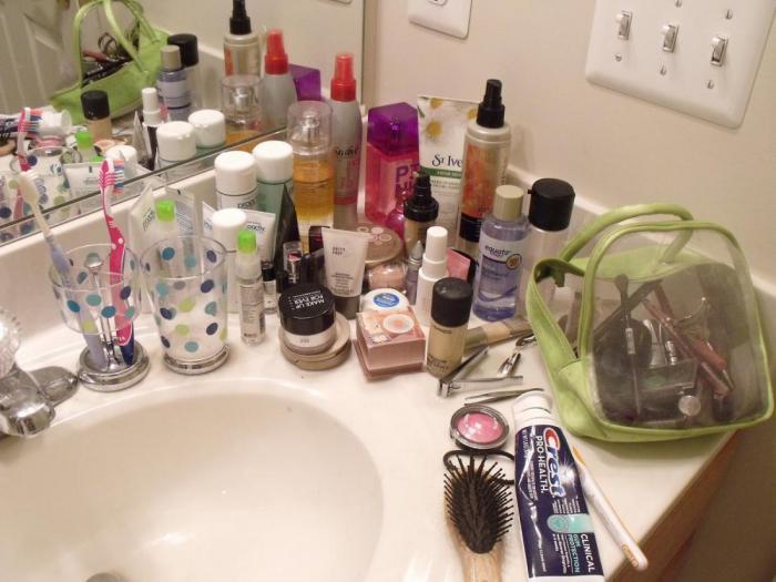 ванная косметика держать