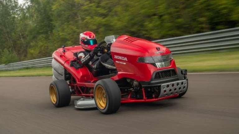 Honda создала газонокосилку, которая по некоторым параметрам превосходит суперкар Bugatti