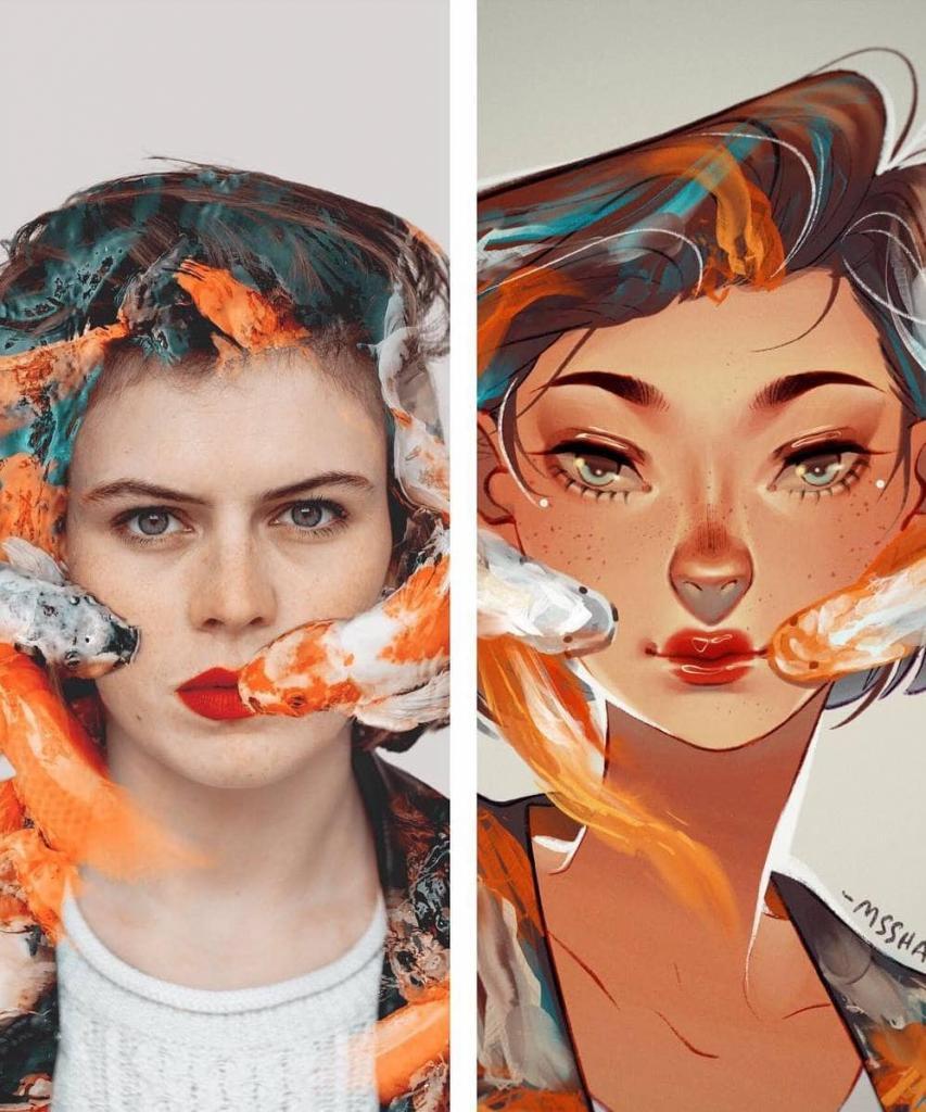 Нарисуй то же самое в своем стиле. Эксперимент от французского фотографа