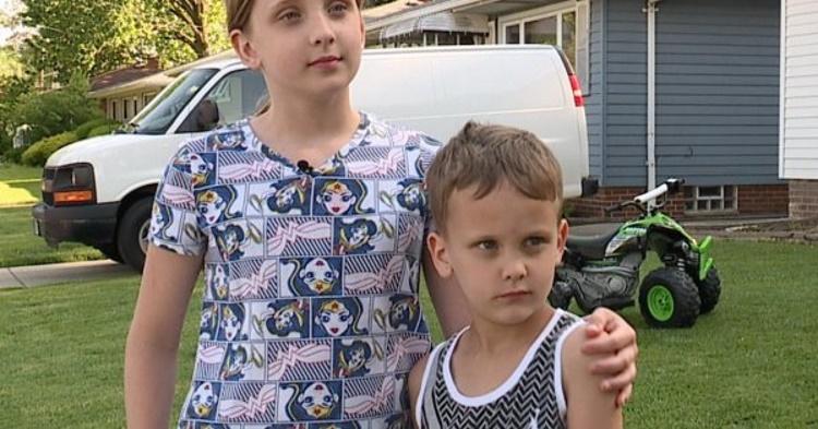 Мальчика попытался похитить незнакомец. Спасла его молниеносная реакция 11-летней сестры